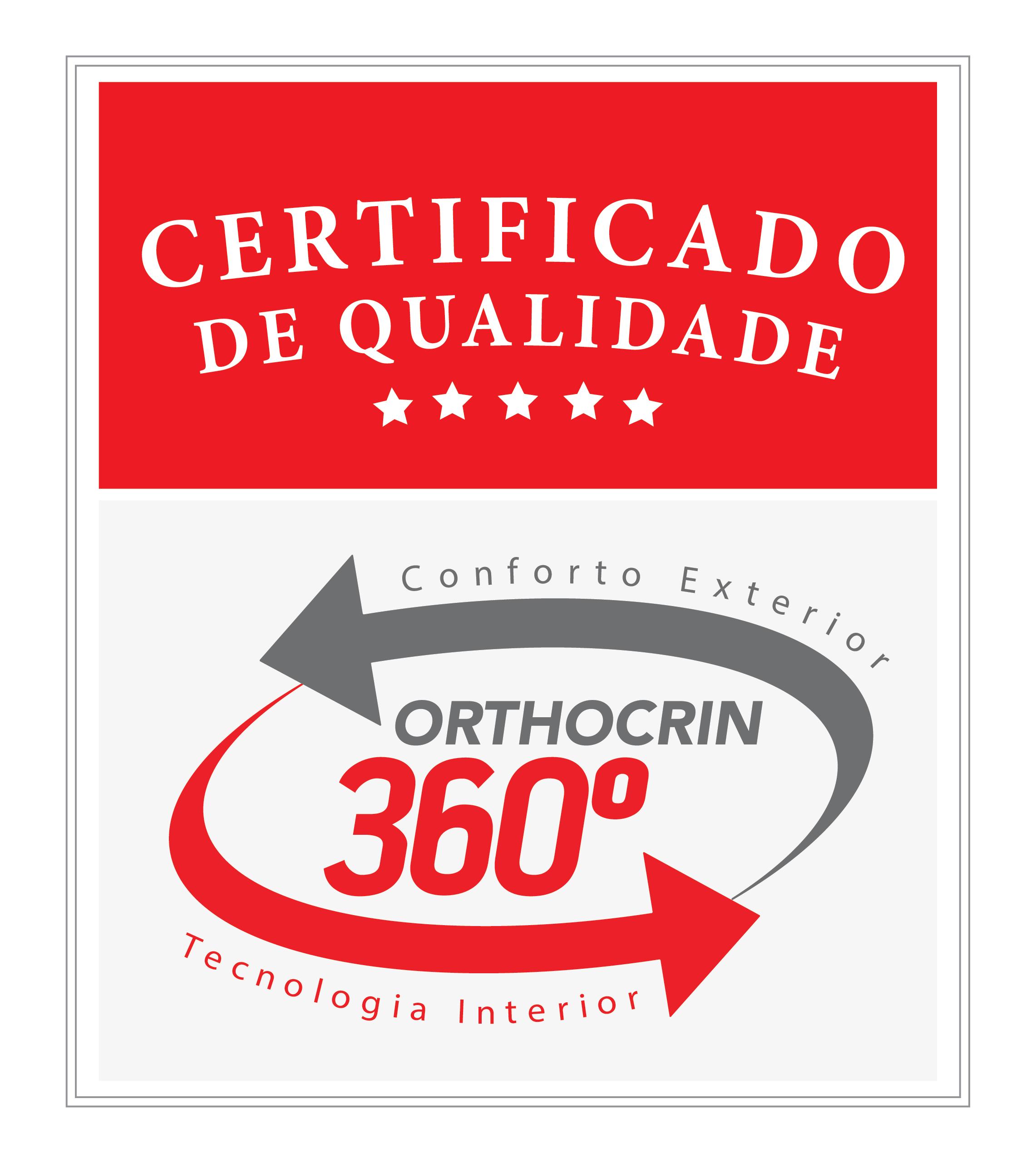 Selo 360° Orthocrin Qualidade por dentro e por fora